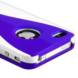 Dark Blue/ White Cup Shape Snap-on Case for Apple iPhone 4/ 4S