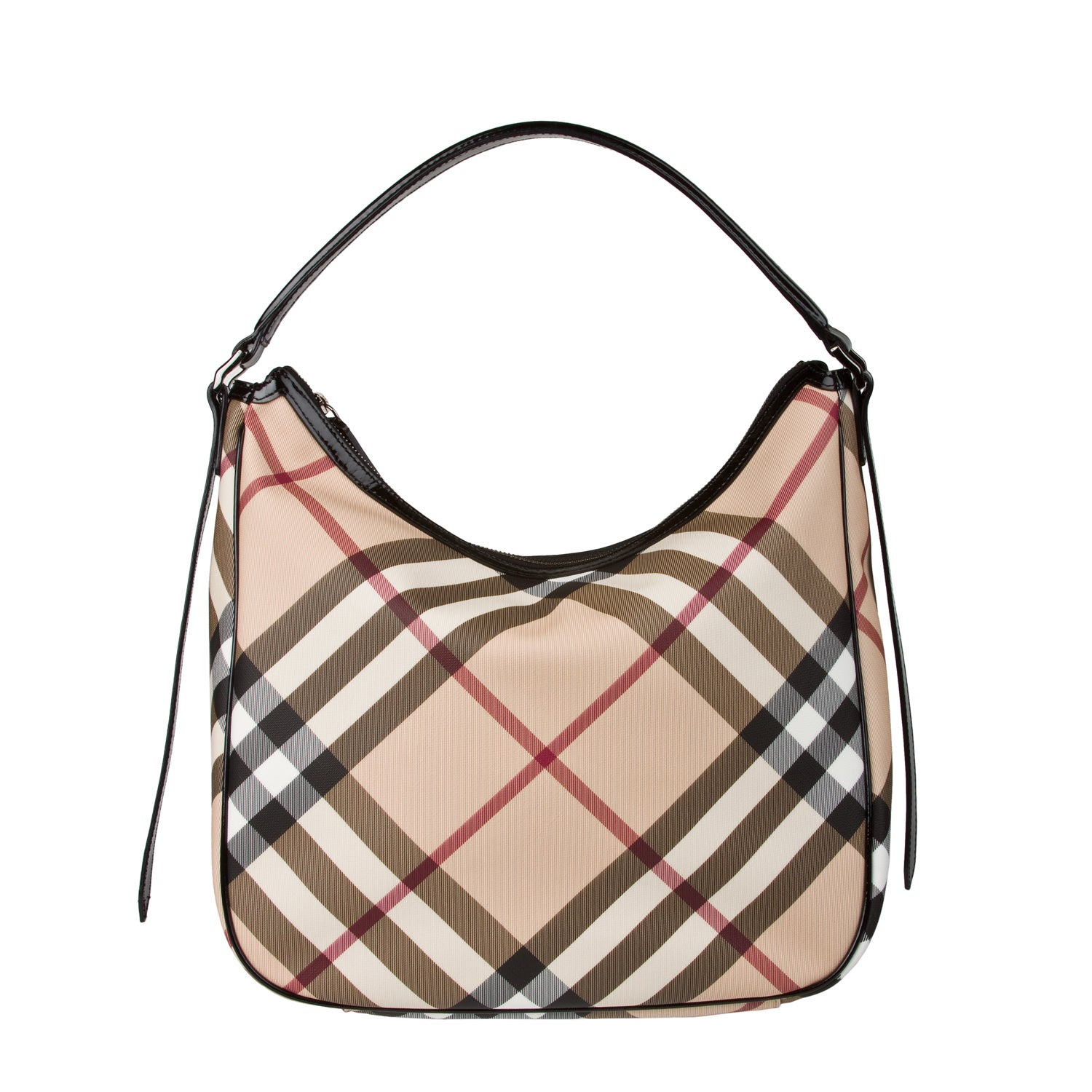 Burberry Medium Nova Check Hobo Bag Free Shipping Today