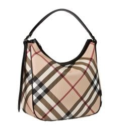 Burberry Medium Nova Check Hobo Bag - Thumbnail 1