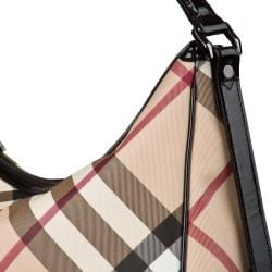 Burberry Medium Nova Check Hobo Bag - Thumbnail 2
