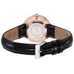 August Steiner Women's Czech Stone Accented Quartz Strap Watch