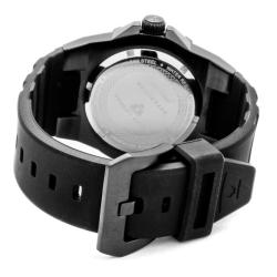 Swiss Legend Men's 'Expedition' Black Dial Black Silicon Watch