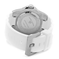 Swiss Legend Men's 'Expedition' White Dial White Silicon Watch - Thumbnail 1