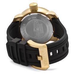 Invicta Men's 'Sea Hunter' Black Dial Black Polyurethane Watch
