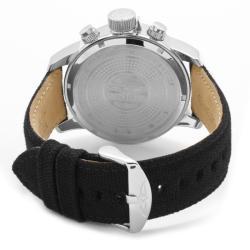Invicta Men's 'Invicta II' Blue Dial Black Leather Chronograph Watch
