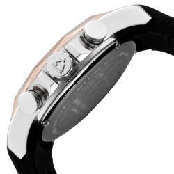 Swiss Legend Men's 'Monte Carlo' Black Silicone Chronograph Watch - Thumbnail 2