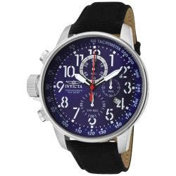 Invicta Men's 'Invicta II' Blue Dial Black Leather Chronograph Watch|https://ak1.ostkcdn.com/images/products/78/87/P13924319.jpg?impolicy=medium