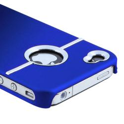 BasAcc Blue Case/ Screen Protector/ Headset/ Wrap for Apple iPhone 4S