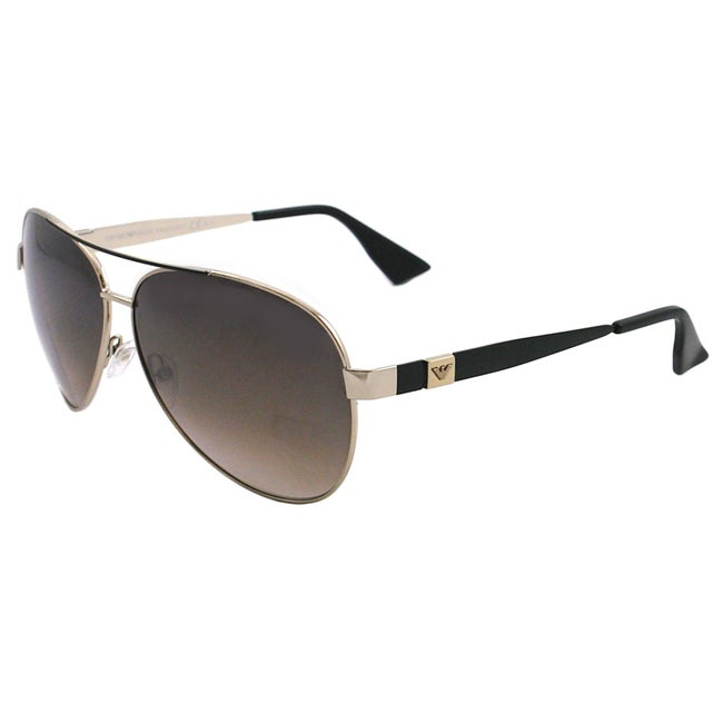 af39680b7994 Shop Emporio Armani Men's EA 9704 V8N Light Gold Metal Aviator Sunglasses -  Free Shipping Today - Overstock - 6502206