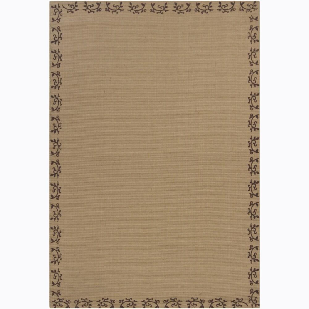 Hand-woven Mandara Tan Rug (10' x 10')