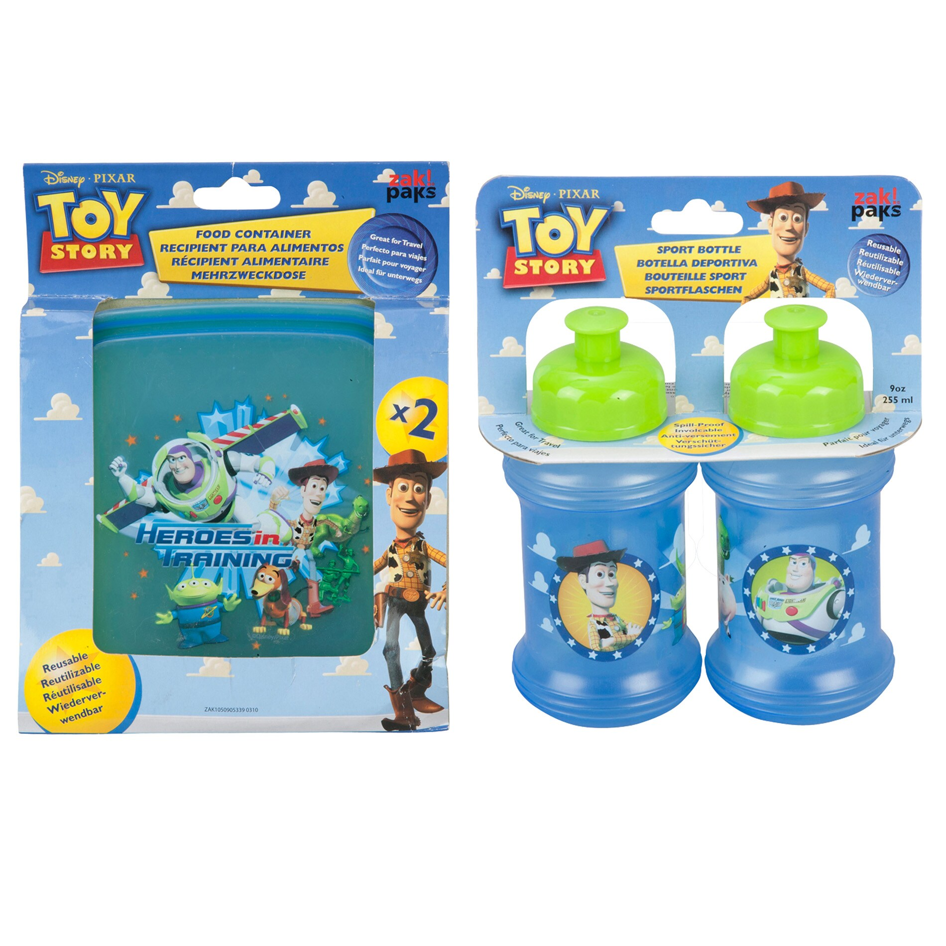 Toy Story Sport Bottles and Food Containers Set
