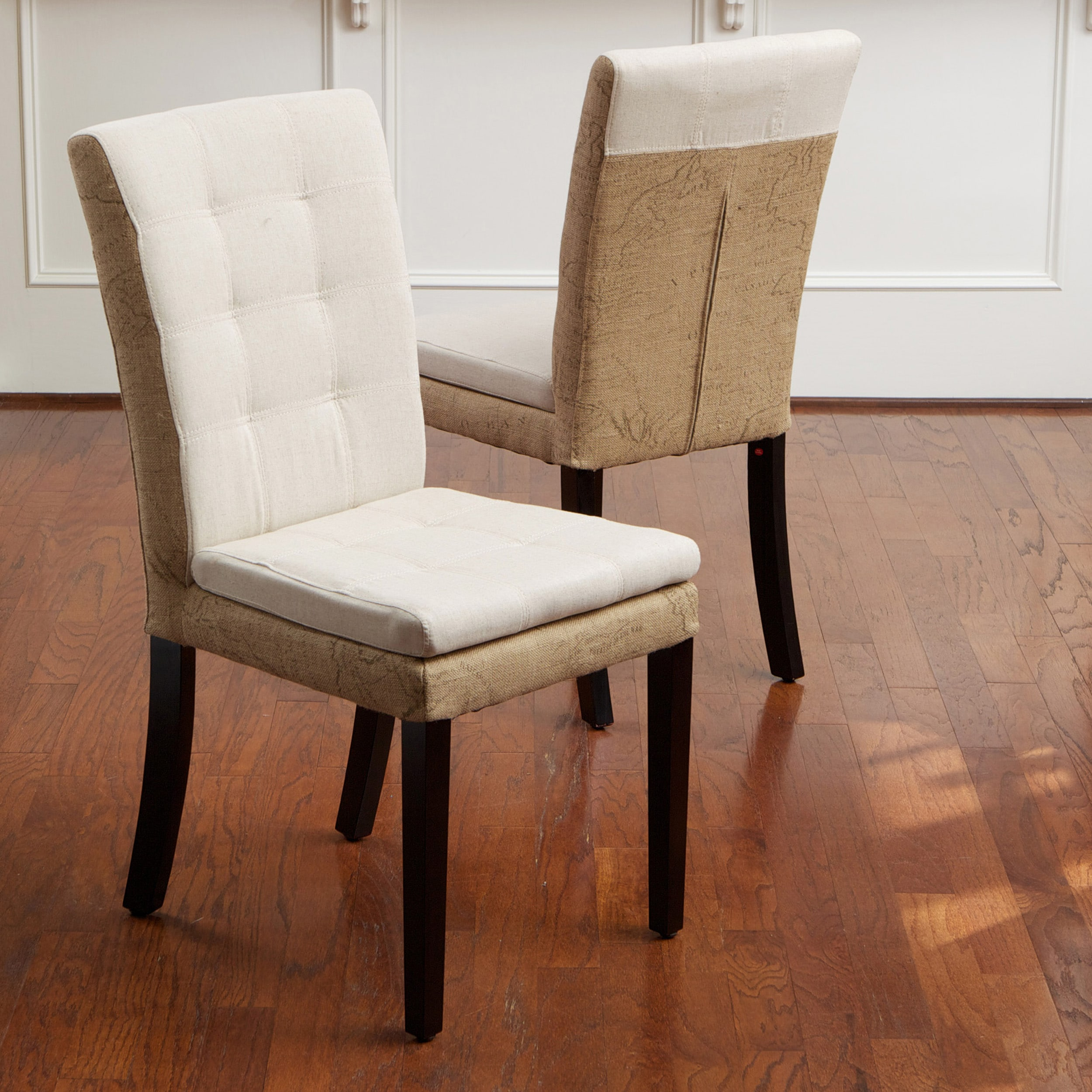 Lacey Linen And Burlap Dining Chairs Set Of 2 Free