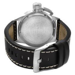 Invicta Men's 'Corduba' Silver Dial Black Leather Watch - Thumbnail 1