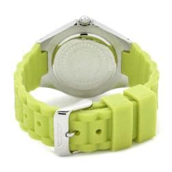 Invicta Women's 'Angel' White Dial Light Green Silicon Watch - Thumbnail 1