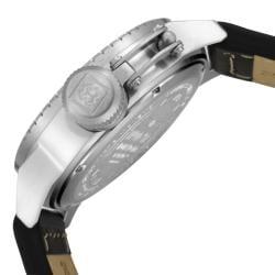 Invicta Men's 'Corduba' Silver Dial Black Leather Watch - Thumbnail 2