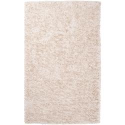 Shop Hand Woven Ivory Bengali New Zealand Wool Shag Rug 8