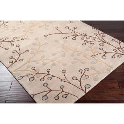 Hand-tufted Ivory Howler Wool Rug (4' x 6') - Thumbnail 1