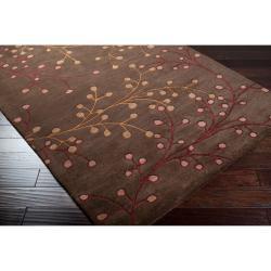 Hand-tufted Chocolate Owey Wool Rug (12' x 15') - Thumbnail 1