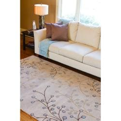 Hand-tufted Ivory Howler Wool Rug (4' x 6') - Thumbnail 2