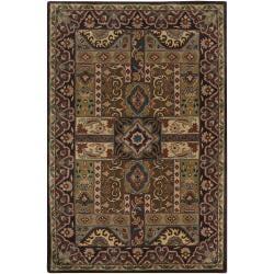 Hand-tufted Brown Laeken Wool Rug (10' x 14')