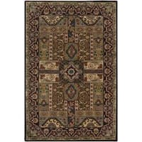 Hand-tufted Brown Laeken Wool Area Rug (10' x 14')