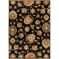 Hand-tufted Black Rani Wool Rug (10' x 14')