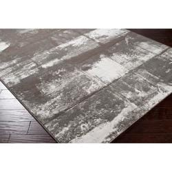 Meticulously Woven Grey Gull Abstract Rug (5'3 x 7'6) - Thumbnail 1