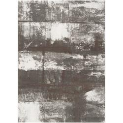 Meticulously Woven Grey Gull Abstract Rug (5'3 x 7'6)