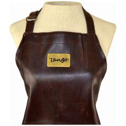 Tango Brown Textured Faux Leather Apron