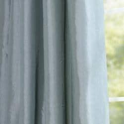 Exclusive Fabrics Ruched Header Sea Green Faux Silk Taffeta 96-inch Curtain Panel - Thumbnail 2
