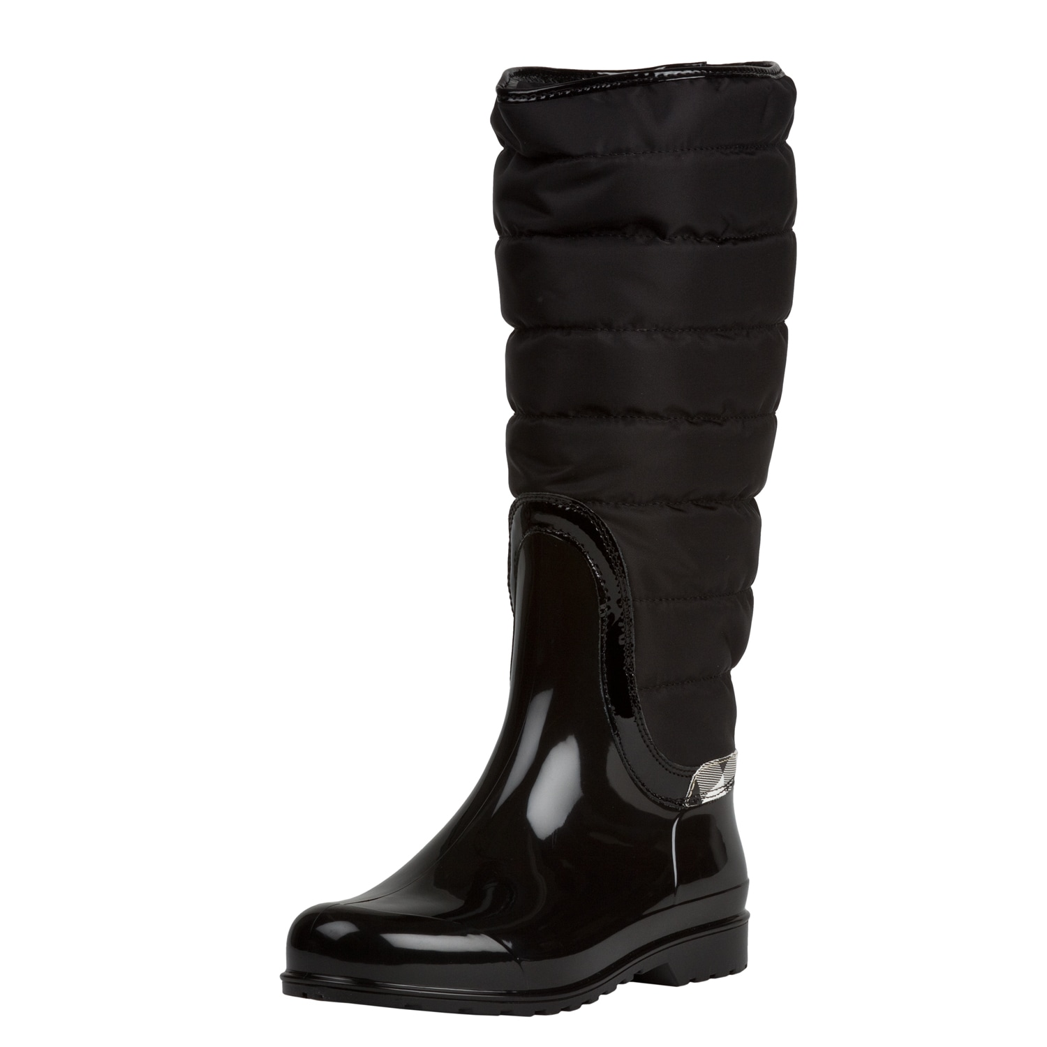 Burberry Women's Black Quilted Insulated Rain Boots