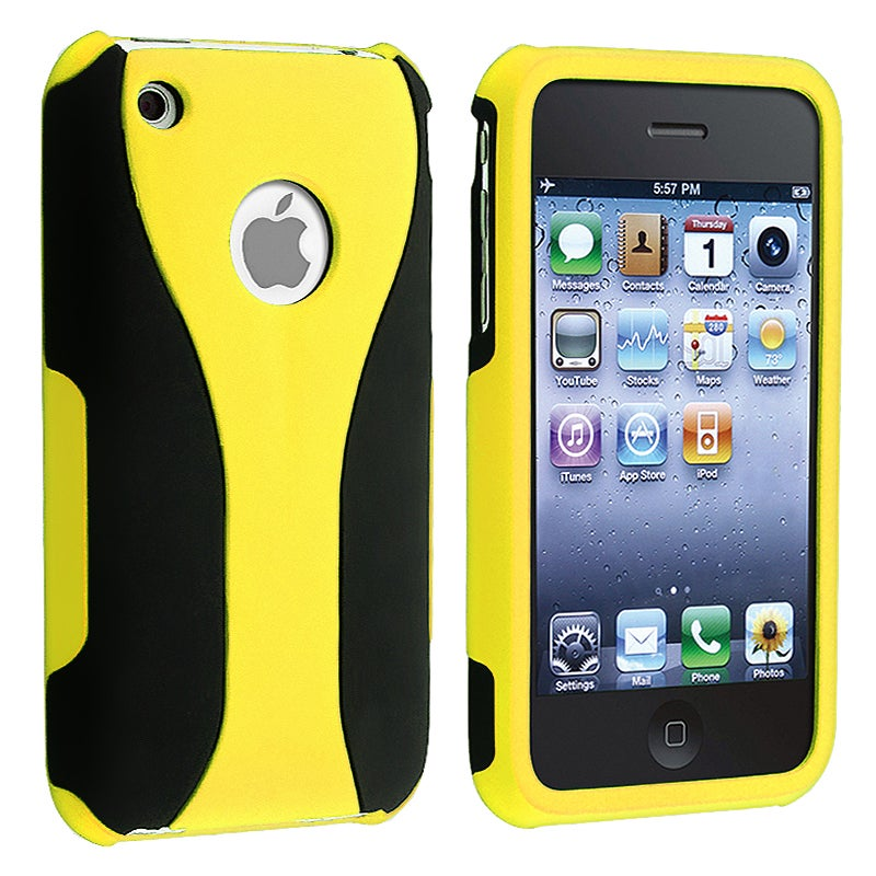 Yellow/ Black Cup Shape Snap-on Case for Apple iPhone 3G/ 3GS