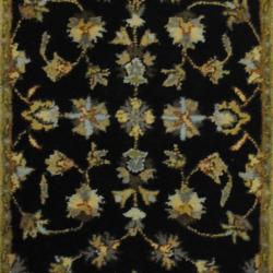 Indo Hand-tufted Mahal Black/ Gold Wool Rug (3' x 5')