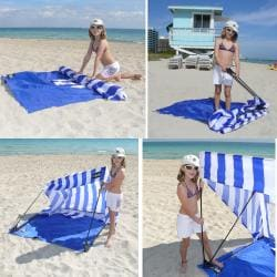 Infinita Blue/ White Island Shade Tent and Beach Shack