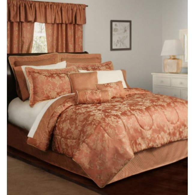 Viennese Spice Floral 15-piece Full-size Bed in a Bag with Sheet Set