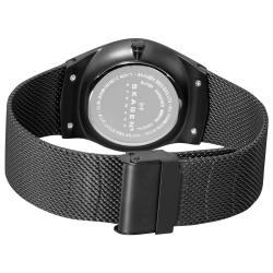 Skagen Men's Black Steel Sandblasted Watch - Thumbnail 1