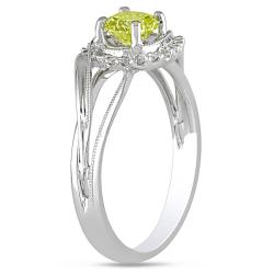 Miadora 14k Gold 5/8ct TDW Yellow and White Diamond Ring