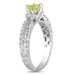 Miadora 14k Gold 3/4ct TDW Yellow and White Diamond Ring - Thumbnail 1