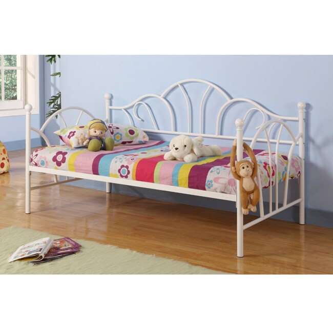 White Metal Twin-size Daybed