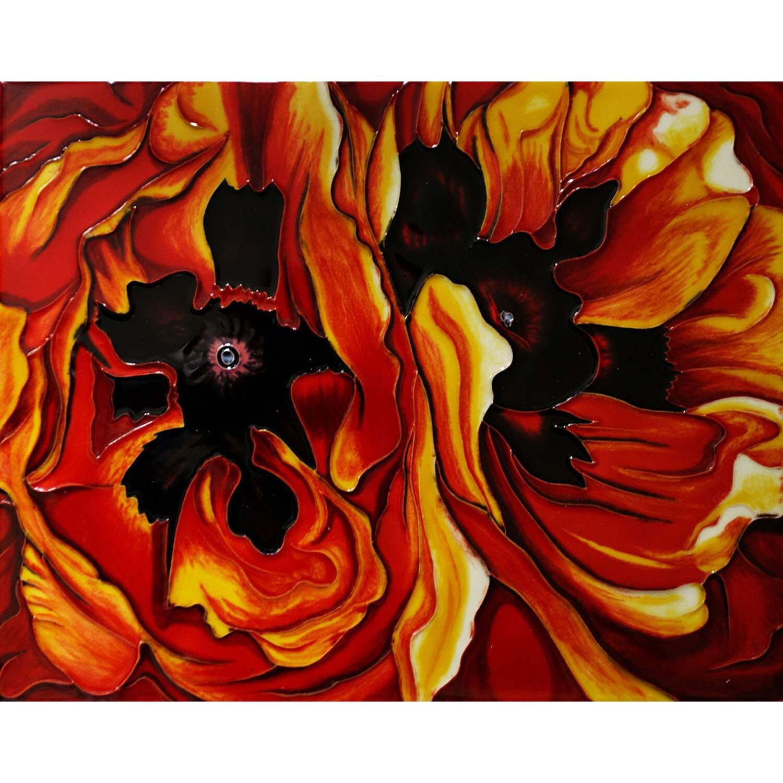 Georgia O'Keeffe 'Oriental Poppies' Wall Tile
