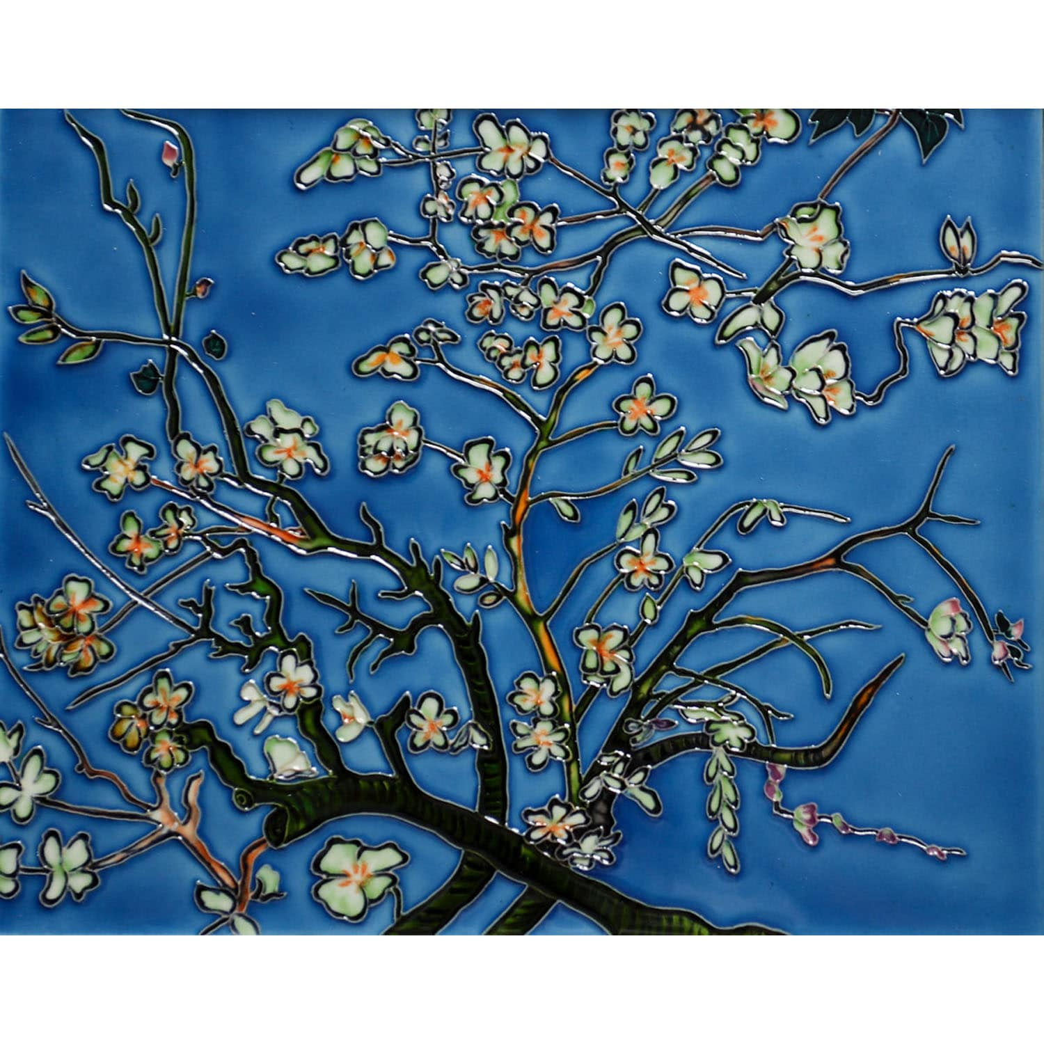 Van Gogh 'Branches of an Almond Tree in Blossom' Wall Tile