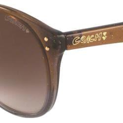 Coach S3008 Women's Oversize Sunglasses-Brown - Thumbnail 1