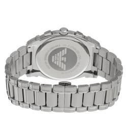 Emporio Armani Men's 'Classic' Silver Chronograph Dial Watch