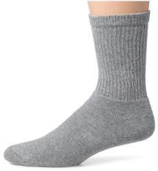 Hanes Classics Men S Grey Cotton Blend Crew Socks Pack Of