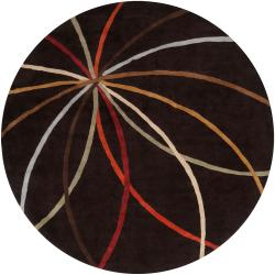 Hand-tufted Contemporary Cheeka Abstract Wool Rug (9'9 Round)