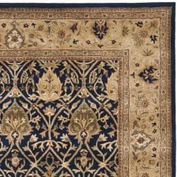 Safavieh Handmade Mahal Blue/ Gold New Zealand Wool Rug (9'6 x 13'6) - Thumbnail 1