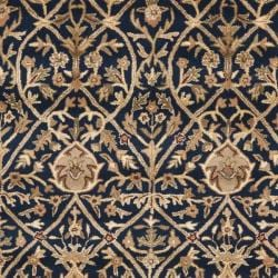 Safavieh Handmade Mahal Blue/ Gold New Zealand Wool Rug (9'6 x 13'6) - Thumbnail 2