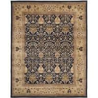 Safavieh Handmade Mahal Blue/ Gold New Zealand Wool Rug (7'6 x 9'6) - 7'6 x 9'6