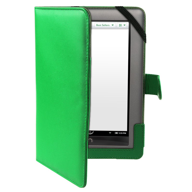 Green Leather Case for Barnes & Noble Nook Color