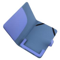 Blue Synthetic-leather/Suede Case for Barnes & Noble Nook Color - Thumbnail 1